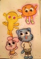 Gumball / Inktober 2017 by mariag2002