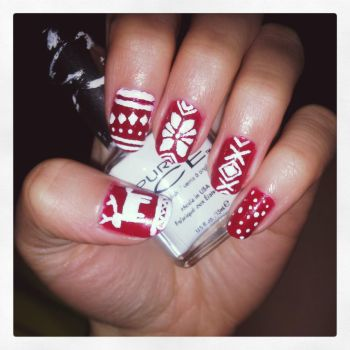 Christmas Nails by Xavria