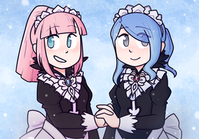 felicia and flora by NintenDash