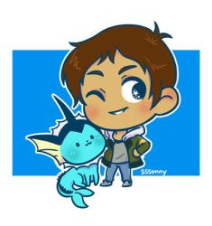 Lance and Vaporeon by sssonny