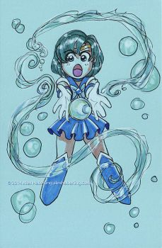 Sailor Mercury Sketch Card by alex-heberling