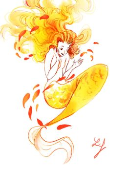 Mermay 2018 #12 - Gold Fish by Ludmila-Cera-Foce