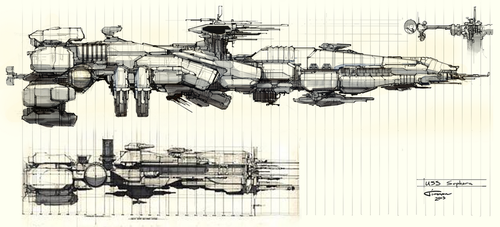 Aliens: Colonial Marines - USS Sephora Redesign by Timmon26