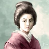 Portrait of a Japanese Girl by Fihril