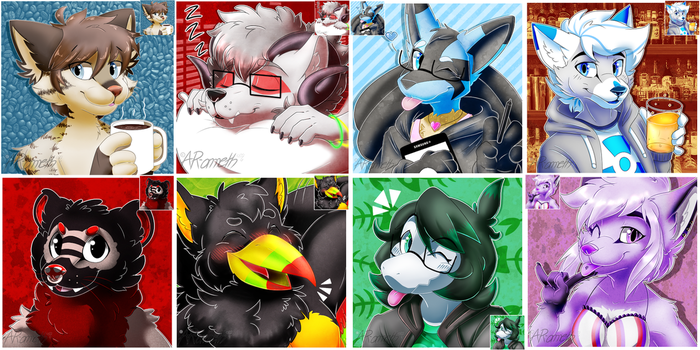 Furry Icon Batch by AR-ameth