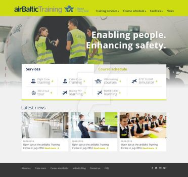 AirBaltic Training web redesign offer by mcwebalizer