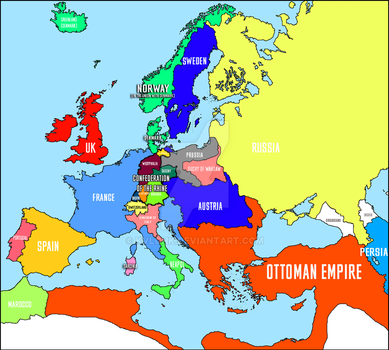 Political map of Europe in 1812 by kvlchk