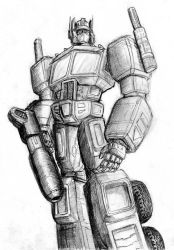Optimus Rough Sketch by Charger426