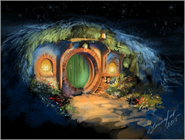 Midnight in Hobbiton (Bag End) by Chocolate--IceCream
