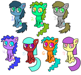 Free Pony Adopts CLOSED by MoonGazerThePony