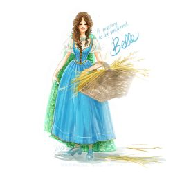 Belle fetches straw by snoprincess