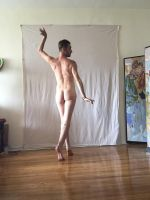 male nude back standing f by TheMaleNudeStock