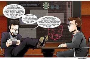 TDS/TCR Avengers Comic: Tony Stark by Saturn-Kitty