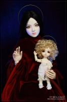 Madonna and child by scargeear