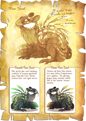 Flight Rising Bestiary: Cave Jewels by neondragon