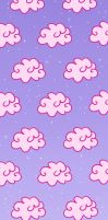 Pink Clouds Custom Box Background by frostykat13