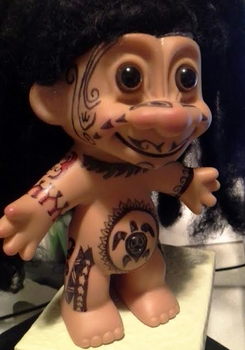 Maori Troll in progress by Maple-Girl
