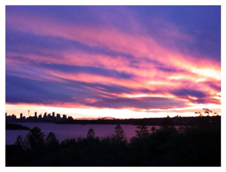 Sydney Harbour Sunset by toxictwo