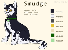 Smudge Ref. Sheet (2013) by SassyHeart