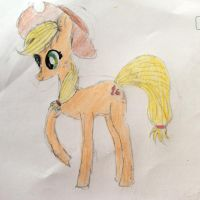 Applejack-drawn by me by sapphirecharming