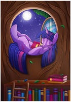 Reading Under the Moonlight by Vocalmaker