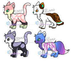 Cat Adoptables (OTA) CLOSED by PurpleFoxKinz
