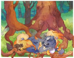 Roots of the Golden Tree by nettlebeast