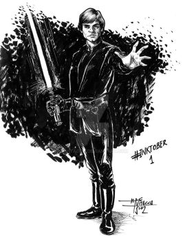 INKTOBER DAY 1 - Luke Skywalker (ROTJ) by mvitacca
