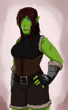 Orc Girl 2 by Sunkaro