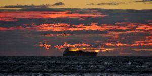 Sunset ship 1 - Piran by wildplaces