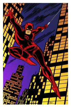 Daredevil by Bruce Timm by DrDoom1081