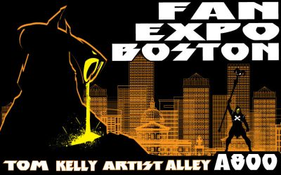 Boston Fan Expo with Tom Kelly by TomKellyART