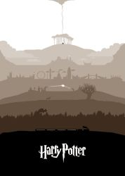 All seven Harry Potter stories in one poster by SRG-Wands