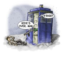 DR and Quinch v The Doctor by crazyfoxmachine
