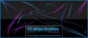 Waved Stripes Brushes by Thurgood