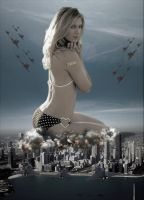 Giantess Maria Sharapova - Above Chicago by GiantessStudios101