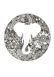 Circle Elephant by poreen