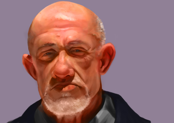 Mike Ehrmantraut  Colour (finished) by HarviSingh