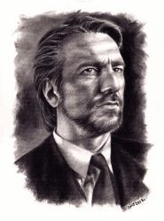 Hans Gruber charcoal by solublepop