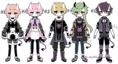 oni demon adoptable batch closed by AS-Adoptables