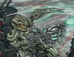 Halo-Guts to Glory commission WIP 2 by bulletproofturtleman