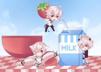 Strawberries and Milk by Stanxiety