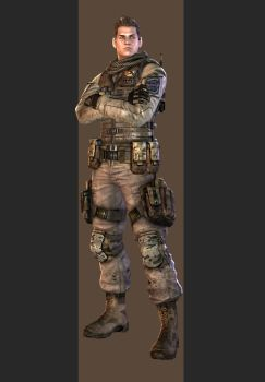 XPS - RE6 - Piers Nivans Edonia Outfit. by henryque999