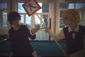 Shizaya ordinary meeting by Vivid-Cosplay