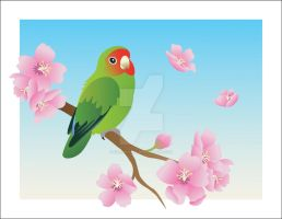 Peach-Faced Lovebird by Fireberd904