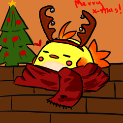 Xmas Birb by PatchyBirb