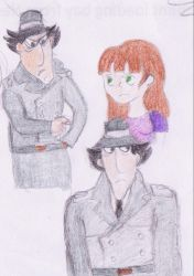 Old art - Inspector Gadget and Blanky by horrorlandcop74