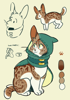 Hooded Cat Adoptable [closed] by Nifty-senpai