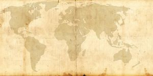 World Map Template - Steampunk/Victorian Style by FloppyBootStomp