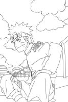 Naruto Lineart by CrypticRiddlers